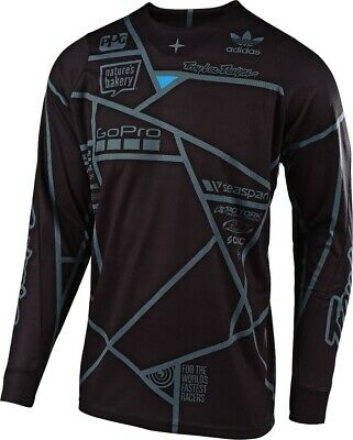 2019 Troy Lee Designs Metric TLD MX SE Motocross Jersey Black Adults
