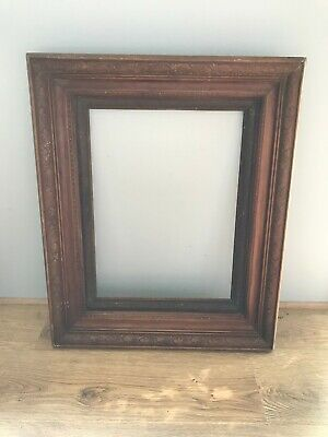Antique/Vintage Solid Wood Mirror/Picture Frame with carved detail