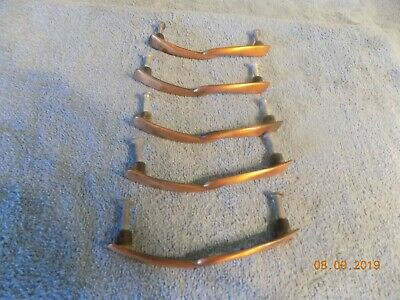 Lot Of 5 Vintage Mid Century Modern 1960s Drawer Cabinet Handle Pulls