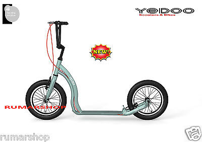 YEDOO ALLOY SCOOTER ROLLER STEP NEW NEU MODEL FRIDAY 16/16 silver green