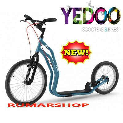 2019 nieuw YEDOO PUSH KICK CITY ROLLER SCOOTER STEP FOUR teal blue
