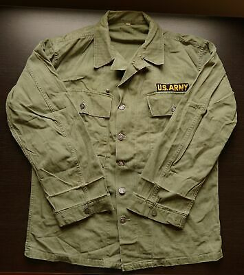 Vintage WW2 US ARMY SHIRT/JACKET 38R, 13 STAR BUTTONS, HBT Herringbone Uniform