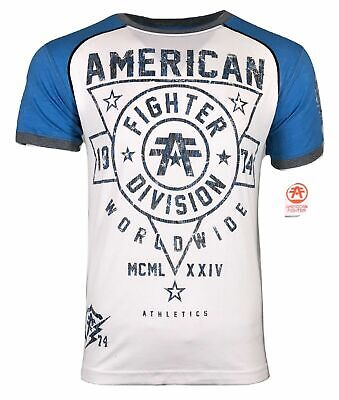 AMERICAN FIGHTER Mens T-Shirt CHESTER Athletic Training Biker MMA Gym UFC $40