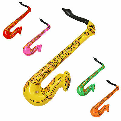 Inflatable Saxophone Blow Up Fancy Dress Party Disco Musical Accessories Prop UK