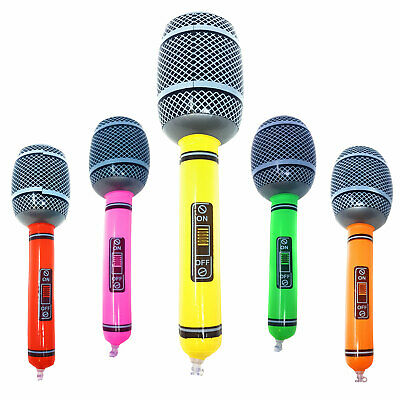 Inflatable Microphone Blow Up Fancy Dress Party Disco Musical Accessory Prop UK