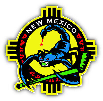 New Mexico USA State Map Flag Car Bumper Sticker Decal 5/'/' x 5/'/'