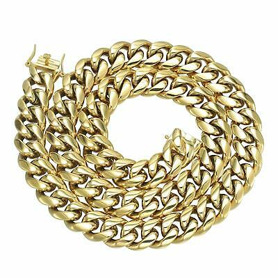 GOLD IDEA JEWELRY Hip Hop 14K Cuban Link Chain 5 Times Real  (22.0 Inches, 14mm)