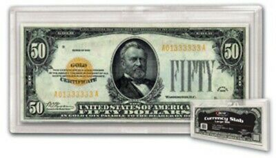 (100) Bcw Large Us Paper Money Bill Currency Slab Acrylic Holders