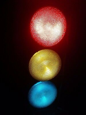 ".12"" LED Traffic Stop Light Signal Set of 3 Red Yellow & Green Gaskets 120V ,"