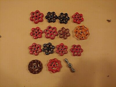 Lot of 15 Vintage Valve Handles Knobs Steampunk