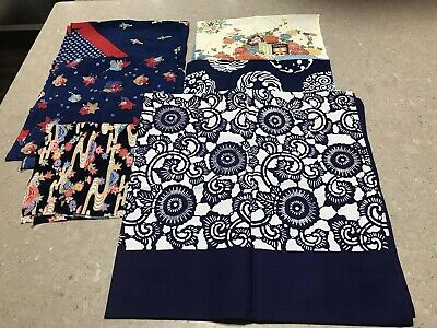 Lot of 6 Japanese Traditional Furoshiki Wrapping Clothes/Handkerchiefs/scarves