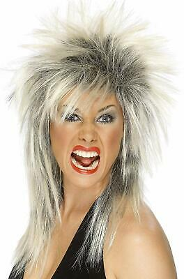 Women's Rock Diva Wig Two Tone Blonde and Long Mullet