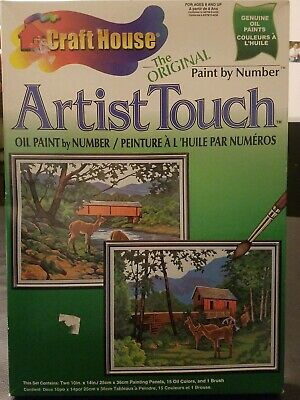 Deer Craft House Artist Touch Oil Paint by Number Set 11351 Natural Beauty