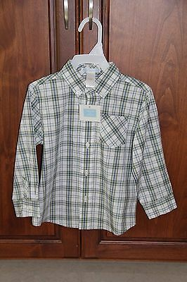 Toddler Boy Janie & Jack Plaid Button Up Longsleeve Shirt size 2t New with tags