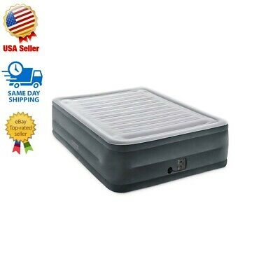 Intex Comfort Plush Elevated Dura-Beam Queen Airbed with Internal Electric Pump