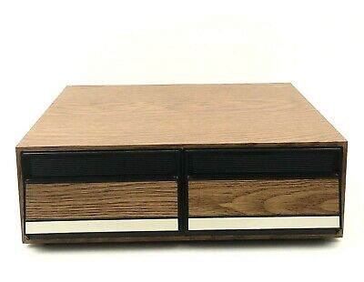 VHS Wood Grain 2 Drawer Storage Case - Holds 24 VHS Tapes
