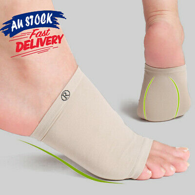 Silicon Gel Insole Support Arch Fasciitis Flat Plantar Shoe Pain Foot Pad Relief