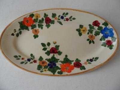 Antique Vintage Hand Painted Art Deco Titan Ware Sunshine Oval Biscuit Tray Dish