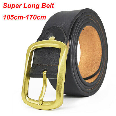 Men's Genuine Leather Dress Belt Classic Stitched Design 30mm Big and Tall Sizes