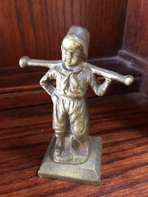 Antique Vintage Heavy Cast Brass Figurine Figure
