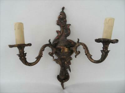 vintage french style cast brass wall light sconce candle design wall display