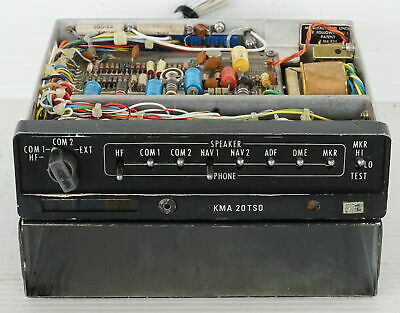 King KMA-20 TSO Aircraft Marker Beacon Audio Selector Panel with Tray