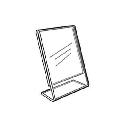 Acrylic Slanted Counter Sign Photo Display Holder Stand 2 x 3.5 - 10 PCS