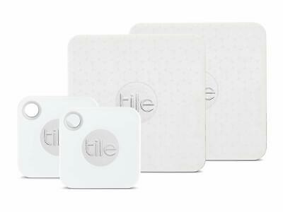 Tile Mate with Replaceable Battery and Tile Slim - 4 pack 2 x Mate 2 x Slim