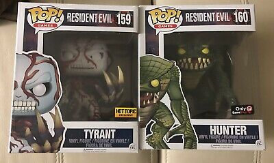 Funko Pop Figure Hot Topic Resident Evil Tyrant & GameStop Hunter Capcom