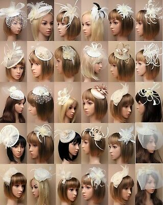 Cream Fascinator Wedding Races Prom Ascot Occasion Wholesale Headpiece hatinator