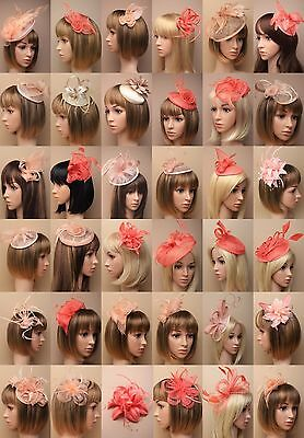 Coral Nude Fascinator Wedding Races Prom Ascot Occasion Wholesale Headpiece