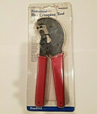 Professional Hex Crimping Tool Radio Shack For RG-58, RG-59, RG-6, RG-6/QS Coax