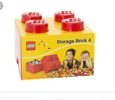 Lego 4003 Storage Brick 4 Knobs RED Stackable Container - Fast Shipping!!!