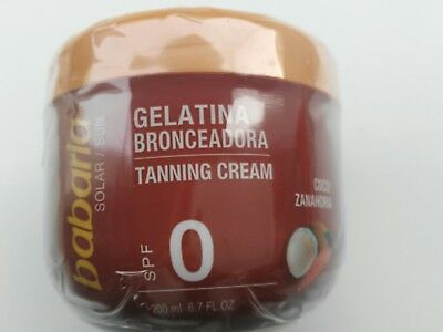 Babaria Coconut and Carrot Tanning Cream SPF 0  200ml UK STOCK