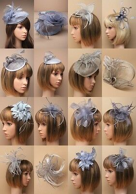 Silver Grey Fascinator Wedding Races Prom Ascot Occasion Wholesale Headpiece