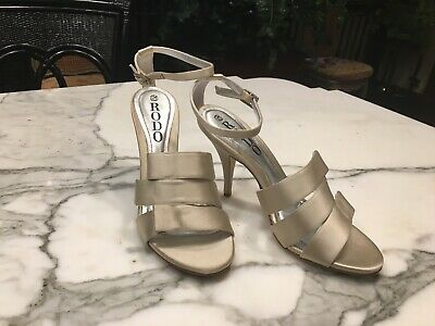 Rodo Ivory Satin Shoes BNWOT Italy 37.5