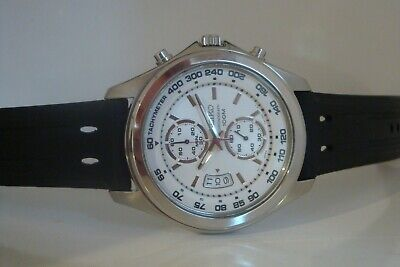 Seiko Twin Register Chronograph. 7t94-0BS0. Gents racing watch. SNN259. RRP $350