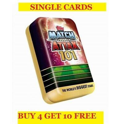 Topps Match Attax 101 Single Cards (2019) Buy 4 Get 10 Free