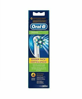 Braun Oral B CROSS ACTION replacement ToothBrush Heads - Pack of 4
