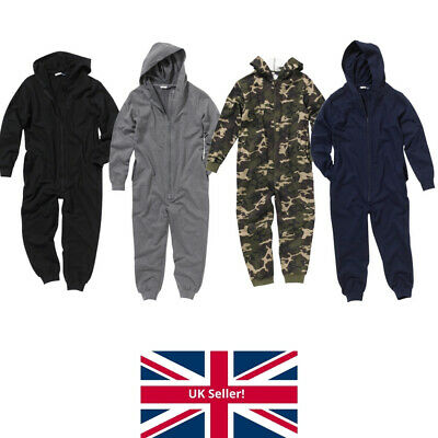 Bedlam Boys Sweat Fabric 1Onesie Hooded Jumpsuit All In One Gaming Plain Camo