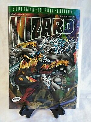 The Wizard Superman Special Gold Edition with Trading Card And Certificate