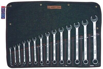 """Wright Tool 714 Combination Wrench 14 Piece Set - 12 Point Satin 3/8"""" - 1-1/4"""""""