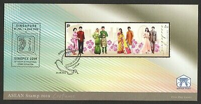 Singapore 2019 Asean Joint Issue Costume First Day Cover Comp. Set Of 1 Stamp