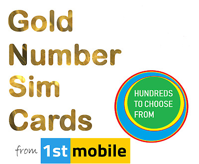 07564 031 000 - NEW Gold VIP number sim card. Easy transfer to any UK network