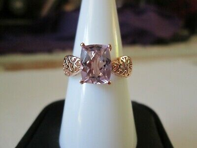Rose De France Amethyst RG over Sterling Silver Ring (Size 7) TGW 2.00 cts.