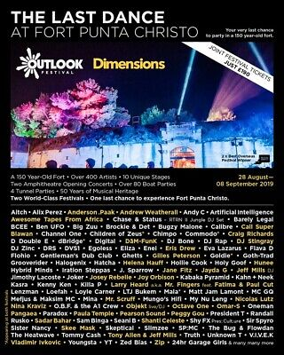 2x dimensions weekend festival tickets