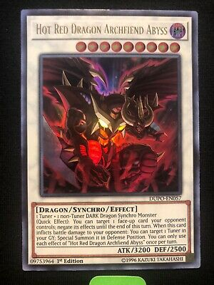 Yugioh Hot Red Dragon Archfiend Abyss Dupo-en057 Ultra Rare 1st Edition Mint
