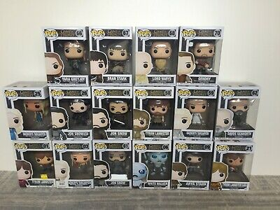 Funko Pop! Game of thrones lot 16 different! Daenerys Targaryen Trion Lannister