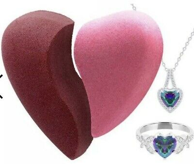 Fragrant Jewels Love bath bomb Set with Surprise ring And Pendant inside