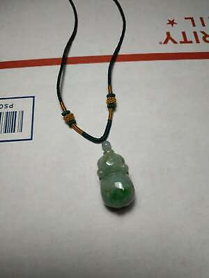 Grade A 100% Natural Genuine Burmese Jadeite Jade Pig Pendant Necklace #66
